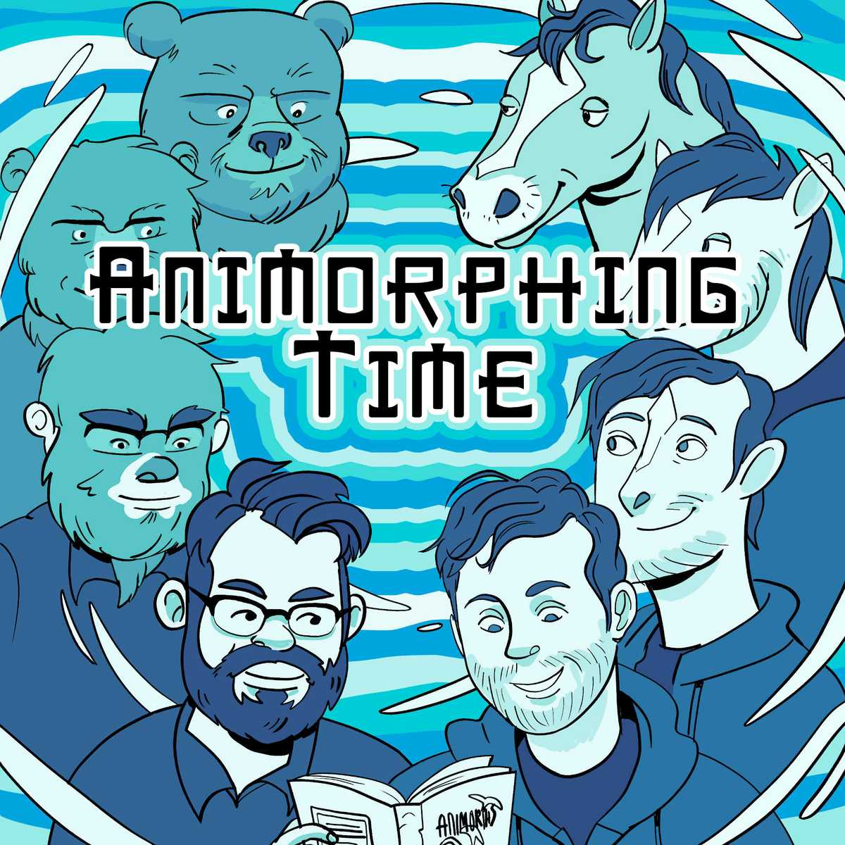 logo for Animorphing Time Podcast